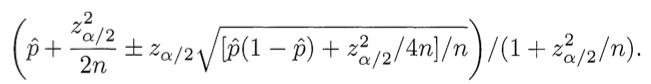 Wilson score equation