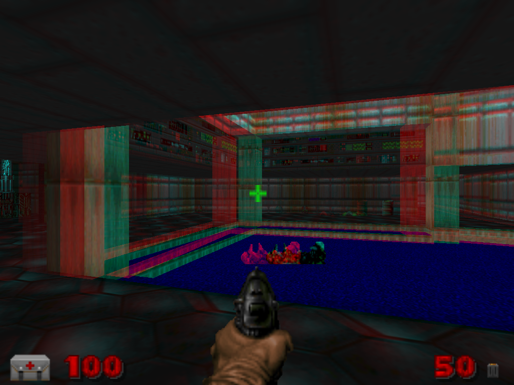 screenshot of red-cyan anaglyph mode