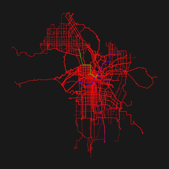 Los Angeles GTFS Heatmap