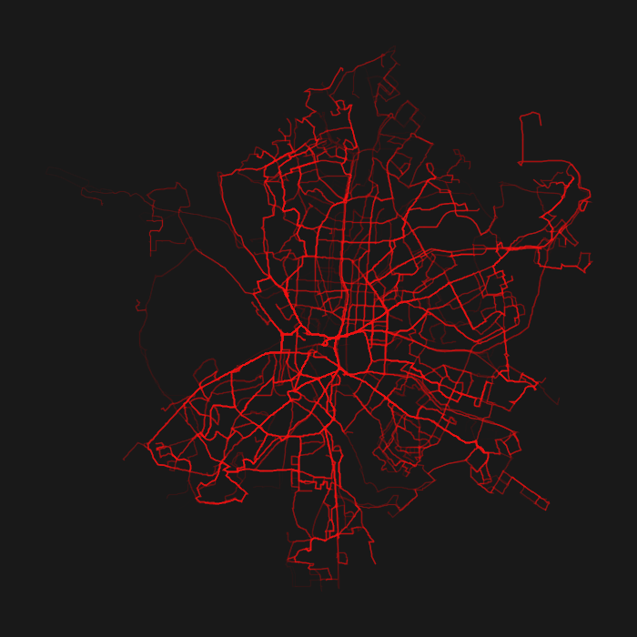 Madrid GTFS Heatmap