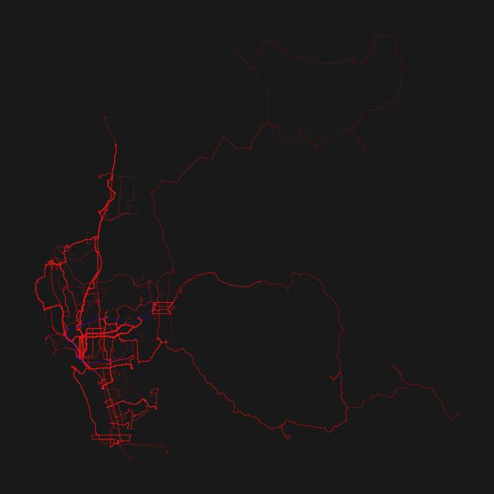 San Diego GTFS Heatmap