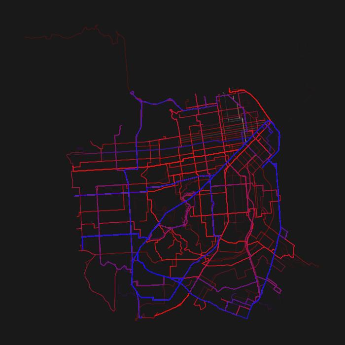 San Francisco GTFS Heatmap