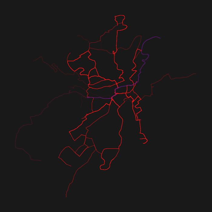 Ulm GTFS Heatmap