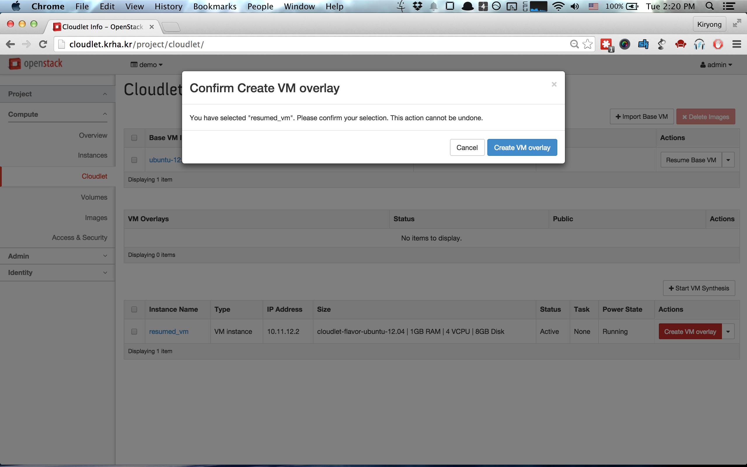 Creating VM overlay