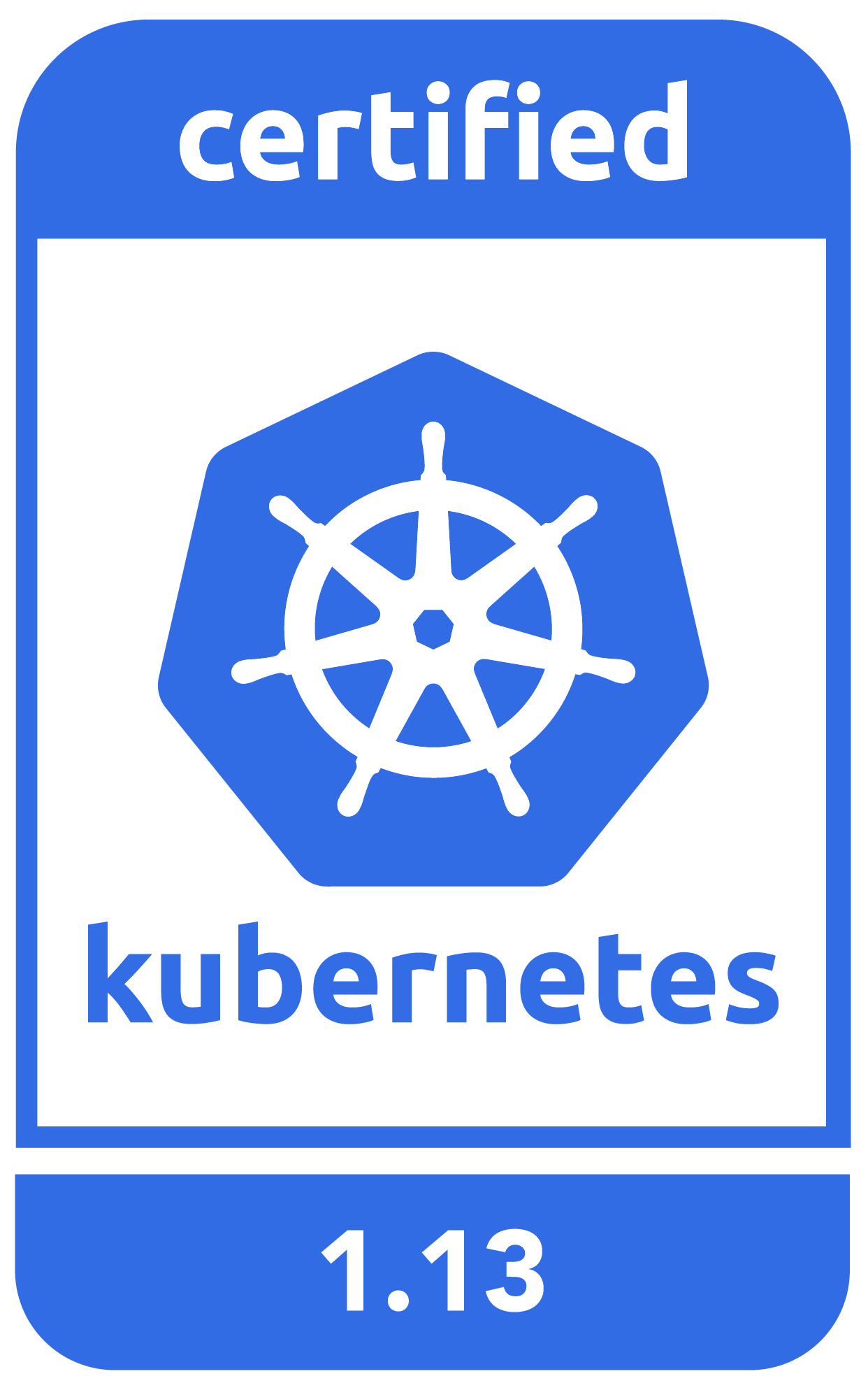 Kubernetes 1.13 certification logo