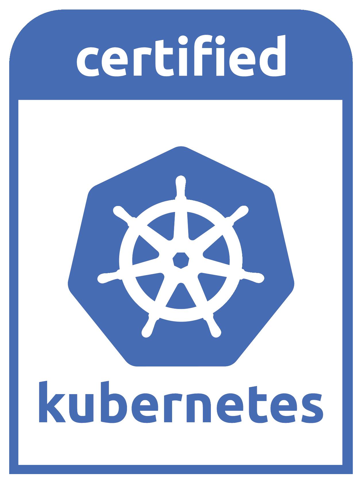 Certified Kubernetes logo