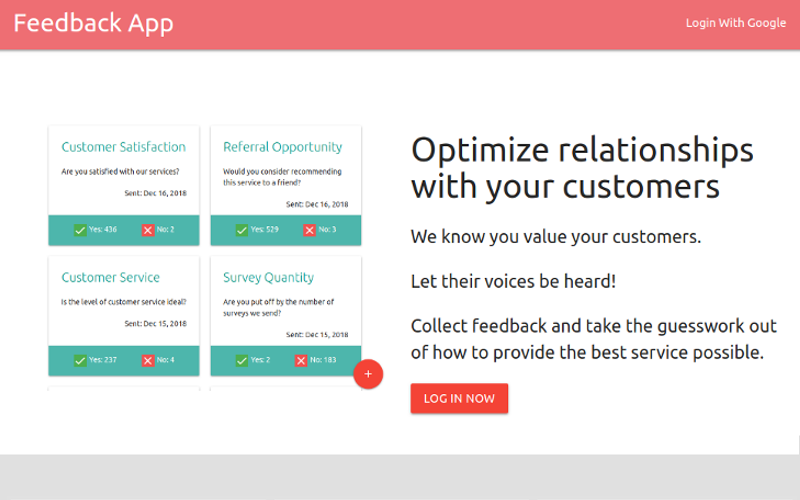 Feedback App Preview