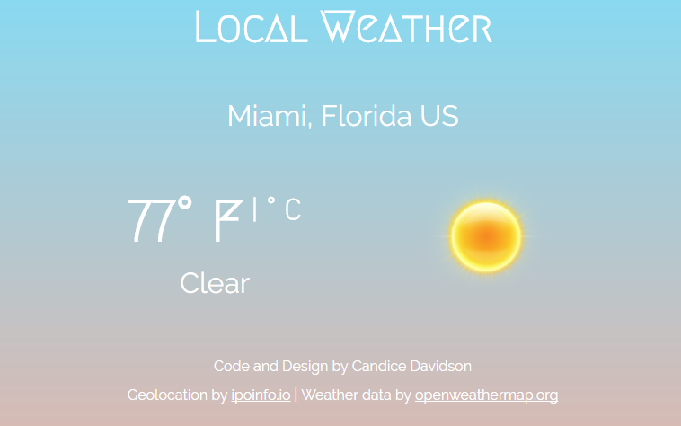 Local Weather App