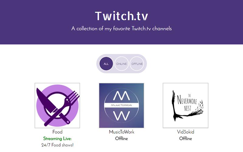 Twitch.TV JSON API