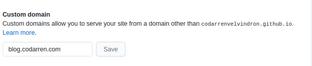 custom domain github