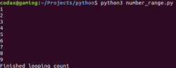 looping count python