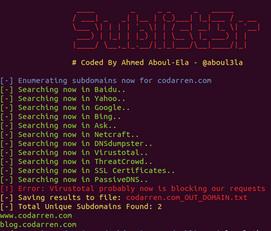 sublist3r python