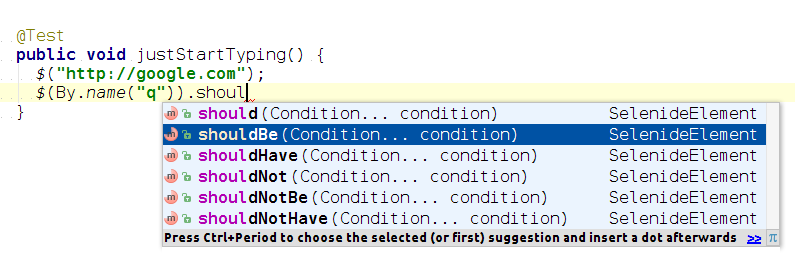Selenide API: Просто начни писать
