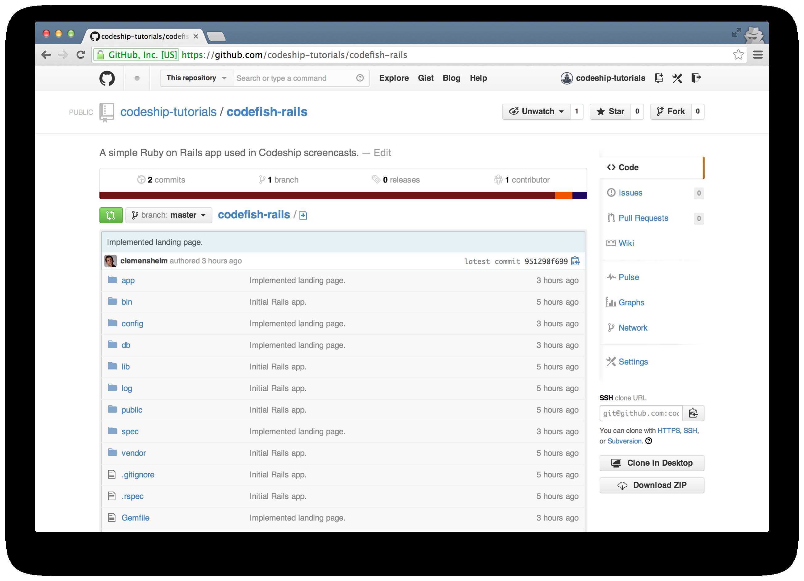 Codefish Rails on GitHub