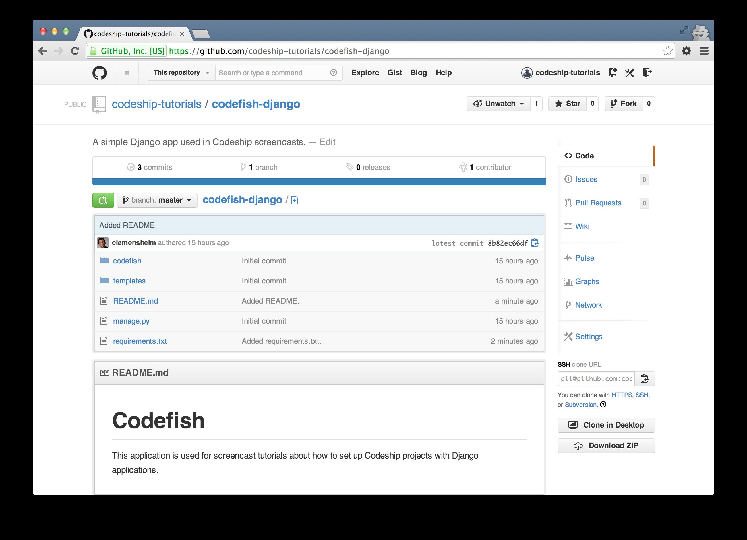 codefish-django on GitHub