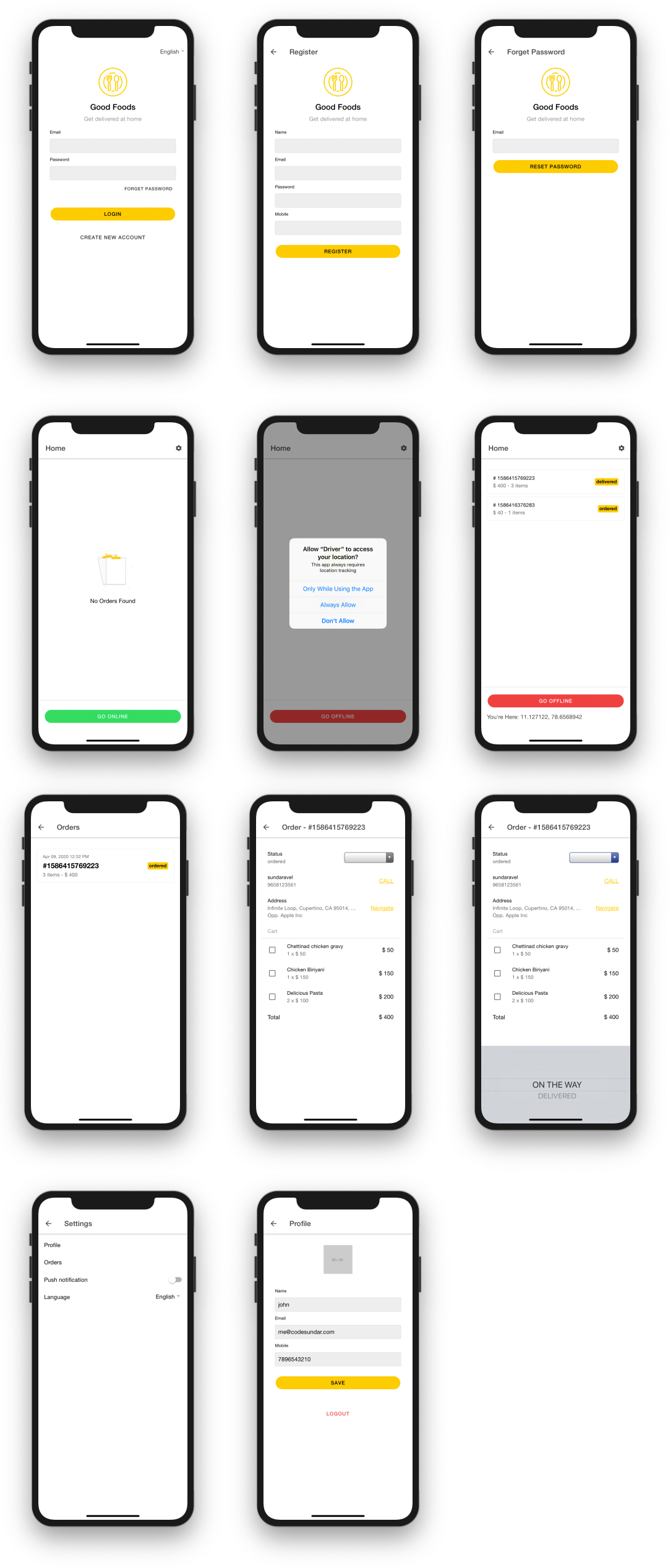Driver App screenshot 2