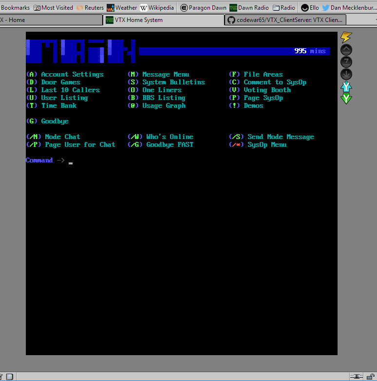 VTX Client Screenshot