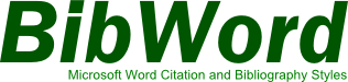 Microsoft Word Citation and Bibliography Styles