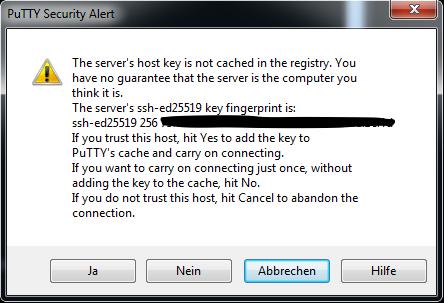PuTTY Host Key