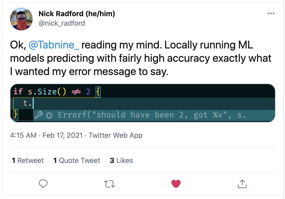 Nick Radford Tweet