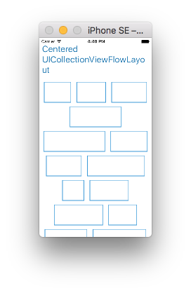 CollectionViewCenteredFlowLayout