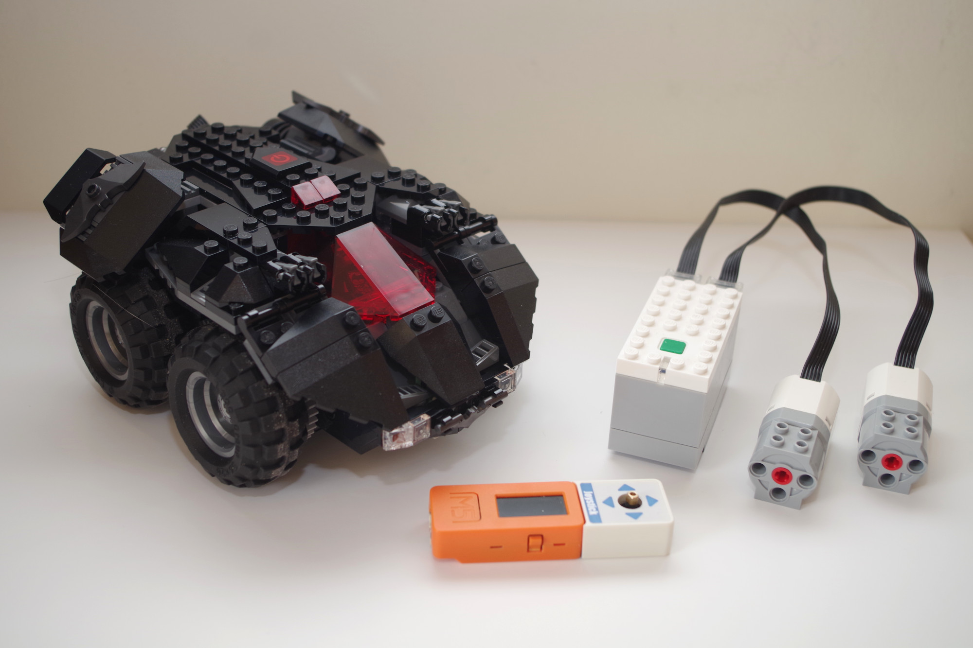 Batmobile controlled by M5StickC and Joystick hat