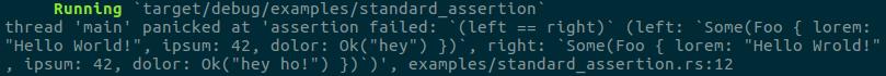 standard assertion