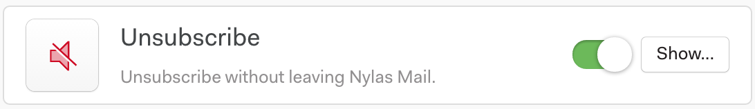 Unsubscribe: unsubscribe without leaving Nylas
