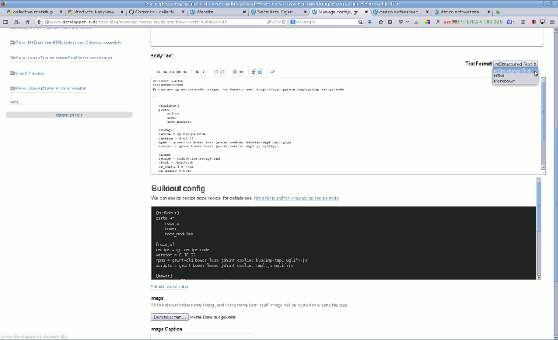 MarkItUp Editor with reStructured Text and preview on bottom