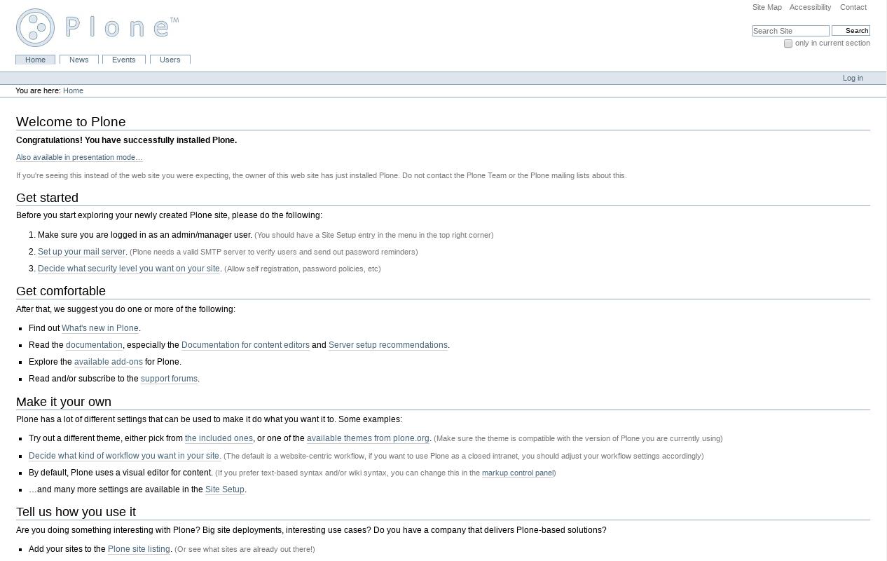 Startup Plone Classic Theme