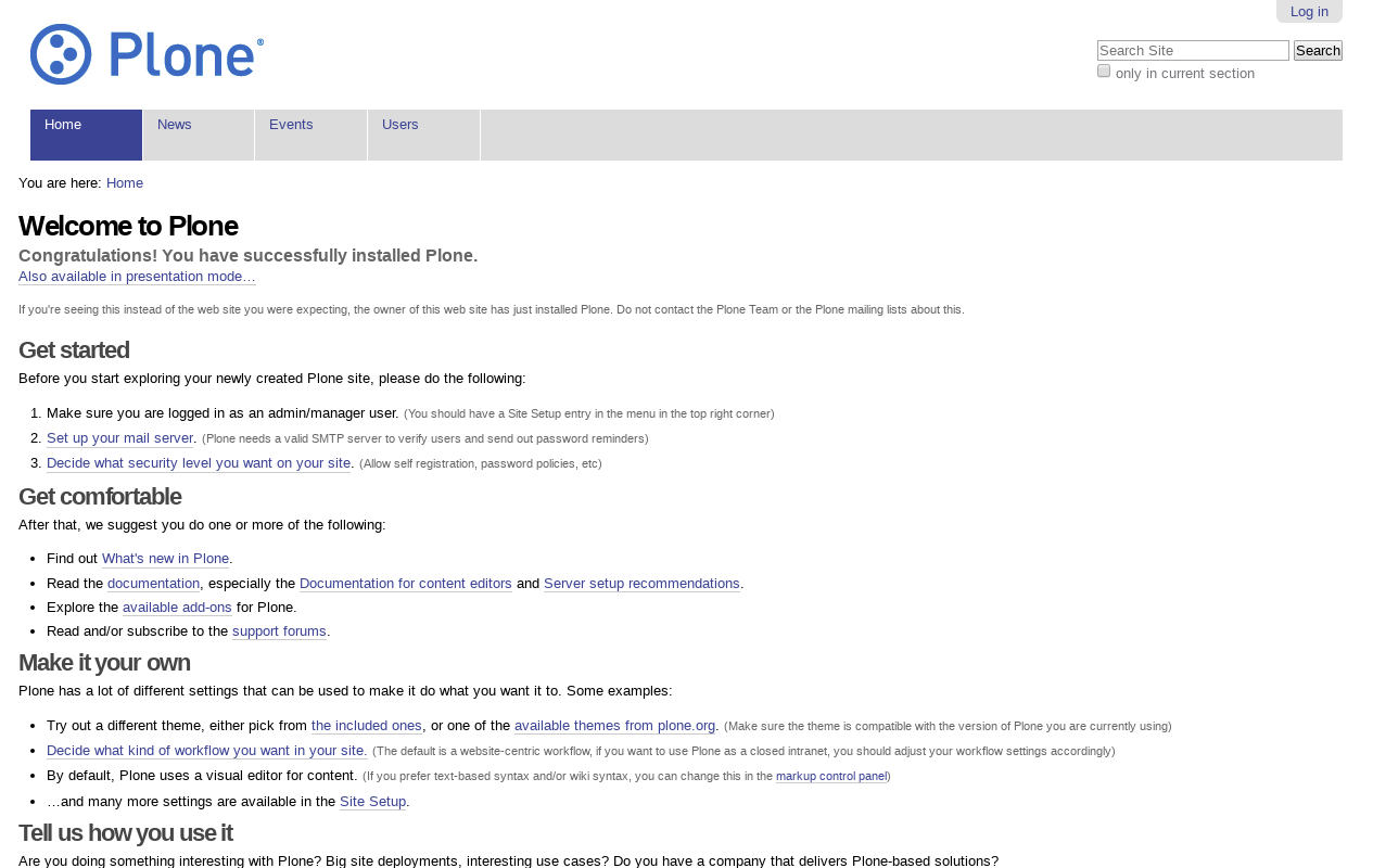 Startup Plone Sunburst Theme