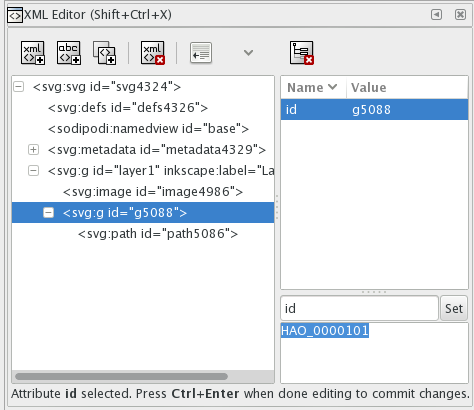 xml editor changed