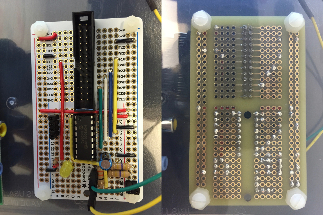 ADC board front and back