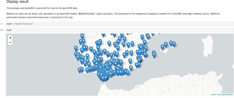 Screenshot of generated map