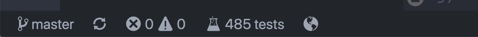 A screenshot of the status bar item