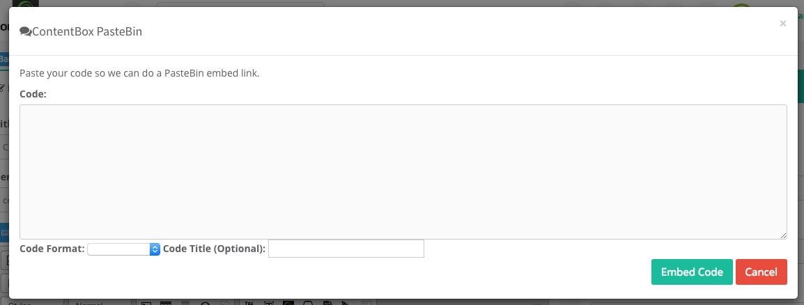 ForgeBox : ContentBox PasteBin Embed