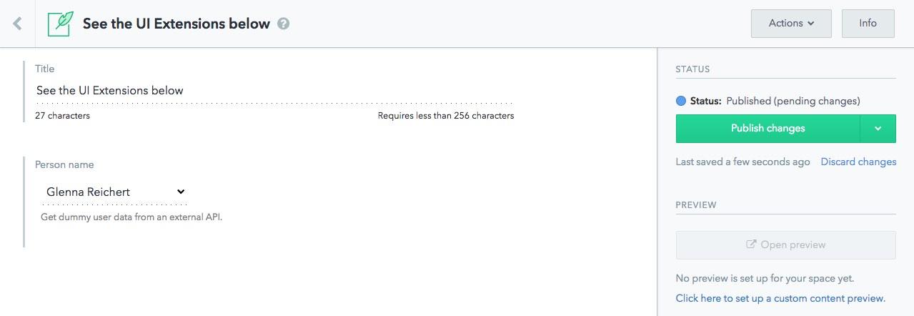Screenshot of extension