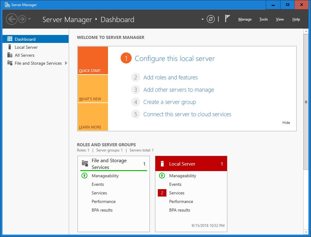 Upgrade Windows Server 2012 to Windows Server 2019