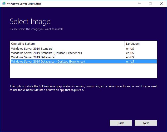 Upgrade Windows Server 2016 to Windows Server 2019