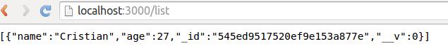 List JSON example