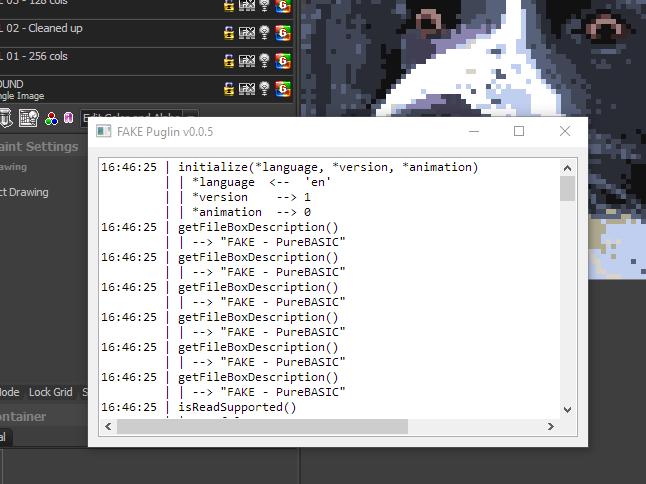 screenshot log window