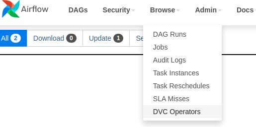 Airflow menu screenshot