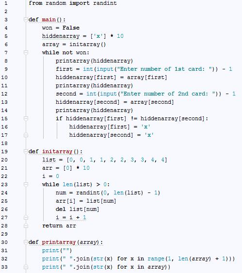 Matching Game · cppignite/python Wiki · GitHub