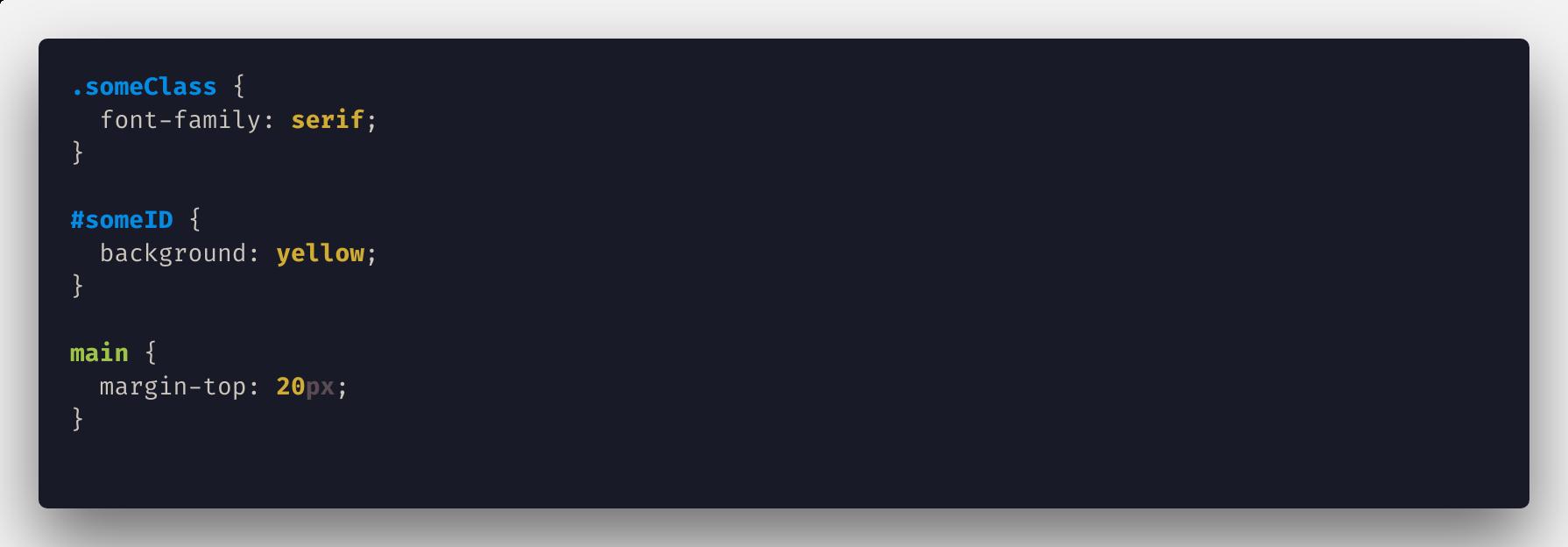 CSS Dark
