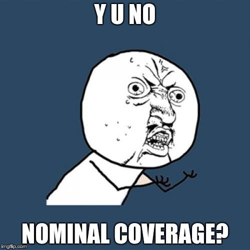 no nominal coverage