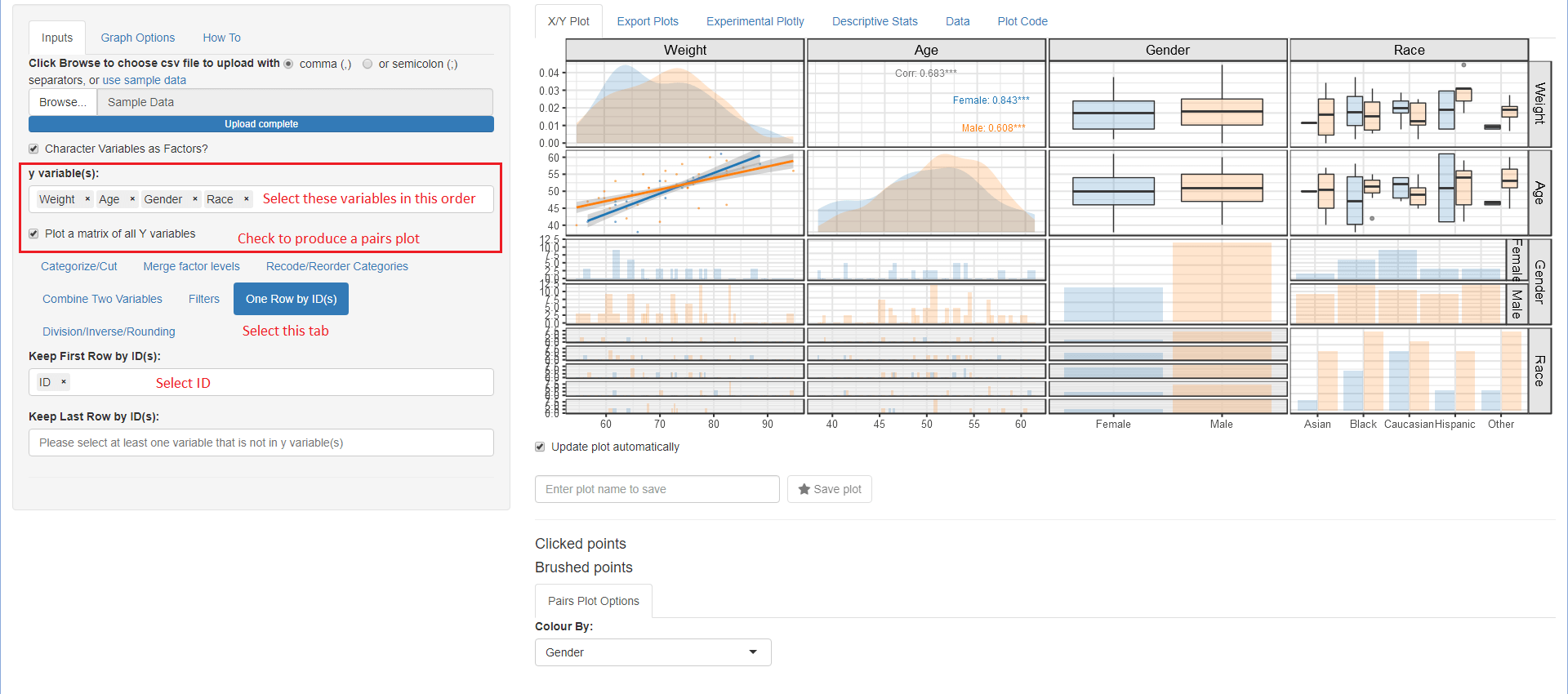 Example use case 4 with the included sample_df.csv.