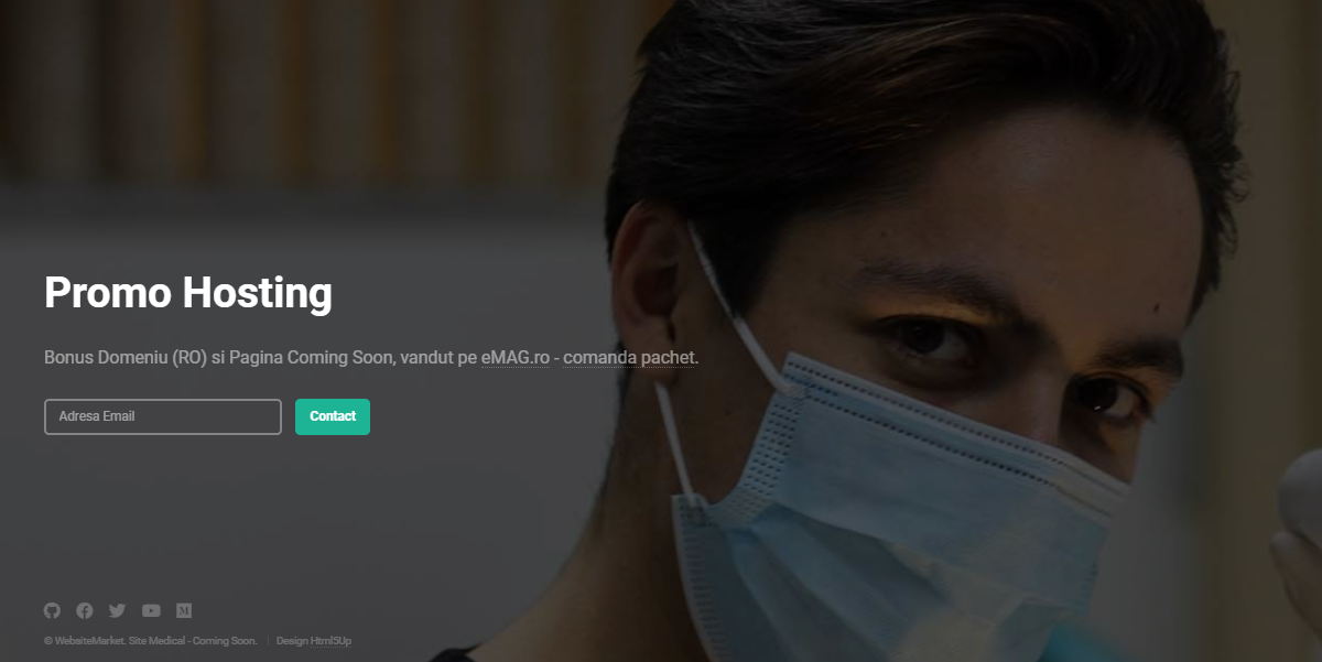 Site Medical, Coming Soon - Un produs Websitemarket