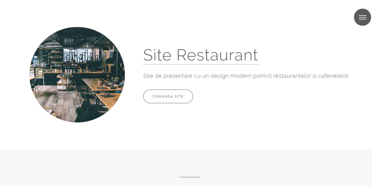 Site Restaurant - Design reflex. Un produs Websitemarket