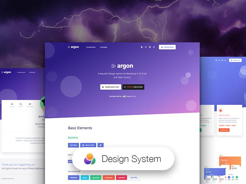 Argon Design System HTML
