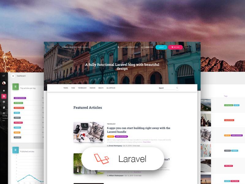 Material Blog PRO Laravel